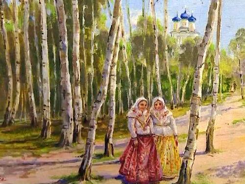Святая Троица. Русские березы и купола церквей