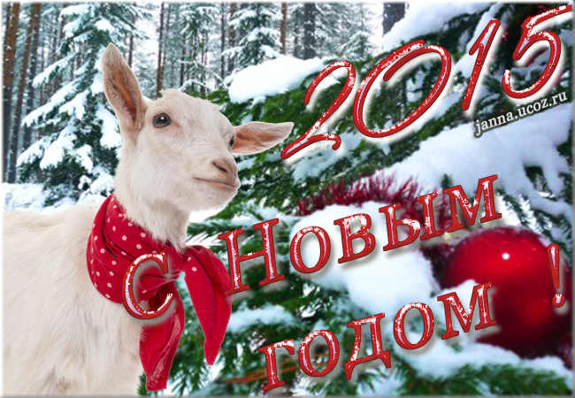 С Новым, 2015-м Годом Козы/Овцы ! Поздравления, открытка