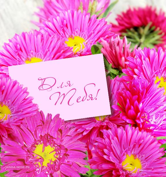 Осенние цветы - Открытка — Для Тебя!